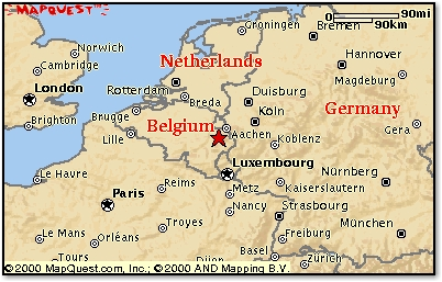 Formula 1 Grand Prix in Belgium, map by MapQuest